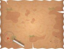 Carte de trésor de pirate Image stock