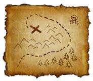 Carte de trésor de pirate Photographie stock libre de droits