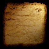 Carte de trésor - sur le noir Photos stock