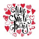 Carte de typographie, T-shirt, copie de tasse Fond de Paris avec le slogan Photographie stock