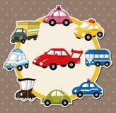 Carte de véhicule de dessin animé Photographie stock libre de droits