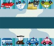 Carte de véhicule de dessin animé Photos libres de droits
