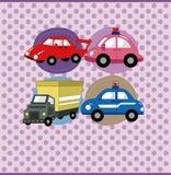 Carte de véhicule de dessin animé Image stock