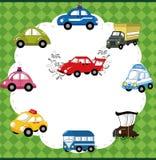 Carte de véhicule de dessin animé Photos stock