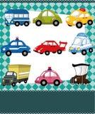 Carte de véhicule de dessin animé Images stock