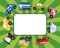 Carte de véhicule de dessin animé Photo stock