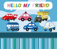 Carte de véhicule de dessin animé Photographie stock