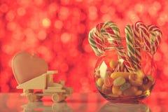 Carte de vacances appropriée jour de Noël et de Valentine à ` s Donnez le lo Images libres de droits