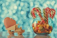 Carte de vacances appropriée jour de Noël et de Valentine à ` s Donnez le lo Photos libres de droits