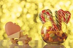 Carte de vacances appropriée jour de Noël et de Valentine à ` s Donnez le lo Images stock