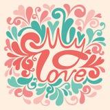 Carte de vacances avec des coeurs pour la conception de jour de valentines Image stock