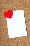 Carte de vacances avec un coeur Photo libre de droits