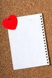 Carte de vacances avec un coeur Images stock