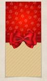 Carte de vacances d'hiver Image stock