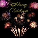 Carte de vacances de Joyeux Noël Photo stock