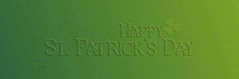 Carte de vacances de St Patrick Day Images stock