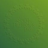 Carte de vacances de St Patrick Day Images libres de droits