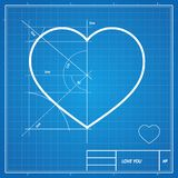 Carte de vacances de vecteur Coeur sur le papier de modèle Photos stock
