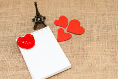 Carte de vacances pour la Saint-Valentin Photos stock
