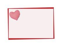 Carte de vacances St Jour de Valentines Admettez son amour Images libres de droits