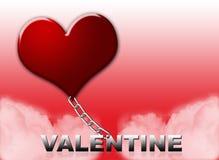 Carte de Valentine Images libres de droits