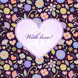 Carte de Valentine Images stock