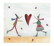 Carte de Valentine Photographie stock libre de droits
