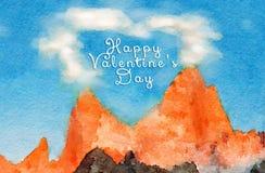 Carte de Valentine Illustration de Vecteur