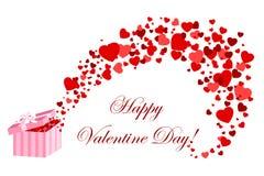 Carte de Valentine avec coeurs Photo libre de droits