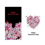 Carte de Valentine avec la forme de coeur pour votre conception Image libre de droits