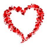 Carte de Valentine avec un coeur Image stock