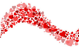 Carte de Valentine avec un coeur Photographie stock libre de droits
