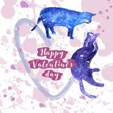 Carte de Valentine de salutation Photo libre de droits