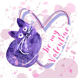 Carte de Valentine de salutation Photos libres de droits