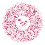 Carte de Valentine Greeting Photos libres de droits