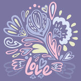Carte de Valentine Greeting Photo stock