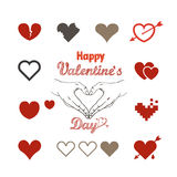 Carte de Valentine Greeting Photos stock