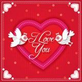 Carte de Valentine je t'aime Photo libre de droits