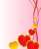 Carte de Valentines Images libres de droits