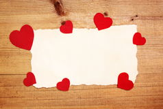 Carte de valentines Photographie stock