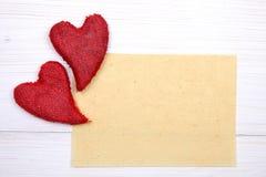 Carte de Valentines Photos stock