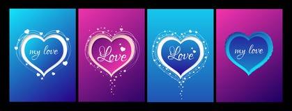 Carte de valentines de collection Images libres de droits