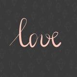 Carte de valentines d'amour Photographie stock libre de droits