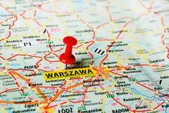 Carte de Varsovie, Pologne Photos libres de droits