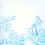 Carte de vecteur avec le décor d'hiver Image stock