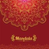 Carte de vecteur avec le mandala de lueur Photo libre de droits