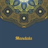 Carte de vecteur avec le mandala de lueur Fond de vecteur Decorat ethnique Photographie stock libre de droits