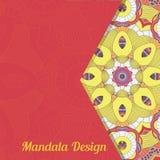 Carte de vecteur avec le mandala Fond de vecteur Décoratif ethnique Photos stock
