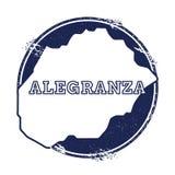 Carte de vecteur d'Alegranza Photographie stock libre de droits