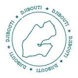 Carte de vecteur de Djibouti Image libre de droits